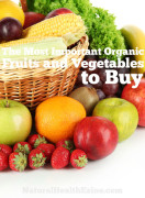 The most important organic fruits and vegetables to buy