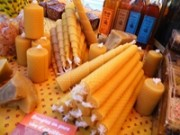 making beeswax candles