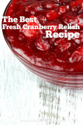 The Best Fresh Cranberry Relish Recipe