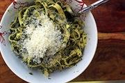 Stinging Nettles Pasta Dish